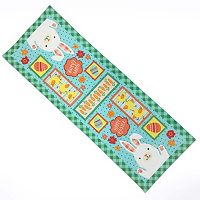 Celebrate Easter Together Faux Applique Bunny Table Runner - 36