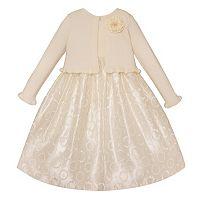 Toddler Girl American Princess Embroidered Dress & Shrug Set