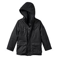 Toddler Boy Urban Republic Ballistic Hooded Sherpa-Lined Midweight Jacket