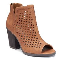 SO® Women's Peep-Toe Ankle Boots