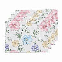 Celebrate Easter Together Floral Print Placemat 4-pk.