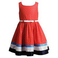 Girls 4-6x Youngland Woven Coral Fashion Dress