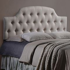 Baxton Studio Morris Scalloped Tufted Headboard by