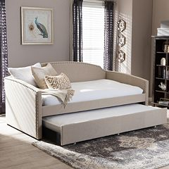 Baxton Studio Lanny Sofa Twin Daybed & Trundle by
