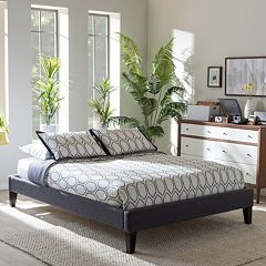 Baxton Studio Lancashire Faux-Leather Bed Frame by