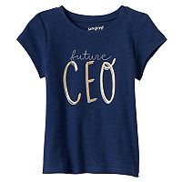 Baby Girl Jumping Beans® Applique Slubbed Tee
