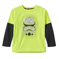 Boys 4-7x Star Wars a Collection for Kohl's Stormtrooper Foil Thermal Skater Tee