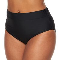Plus Size Croft & Barrow® Semi High-Waisted Bikini Bottoms