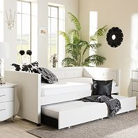 Baxton Studio Frank Twin Daybed & Trundle