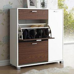 Baxton Studio Chateau Shoe Storage Cabinet by