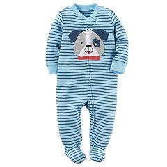 Baby Boy Carter's Embroidered Dog Striped Sleep & Play