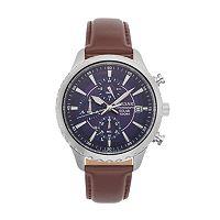 Pulsar Men's Solar Chronograph Leather Watch - PZ6015
