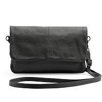 R&R Leather Leather Flap Crossbody Bag