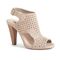 Jennifer Lopez Women's Caged Slingback High Heels