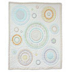 Nurture Heavenly Spheres and Cosmic Dots Baby Quilt