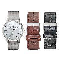 Men's Mesh Watch & Interchangeable Band Set