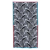 Celebrate Summer Together Zebra Beach Towel