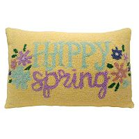 Celebrate Easter Together ''Happy Spring'' Oblong Throw Pillow