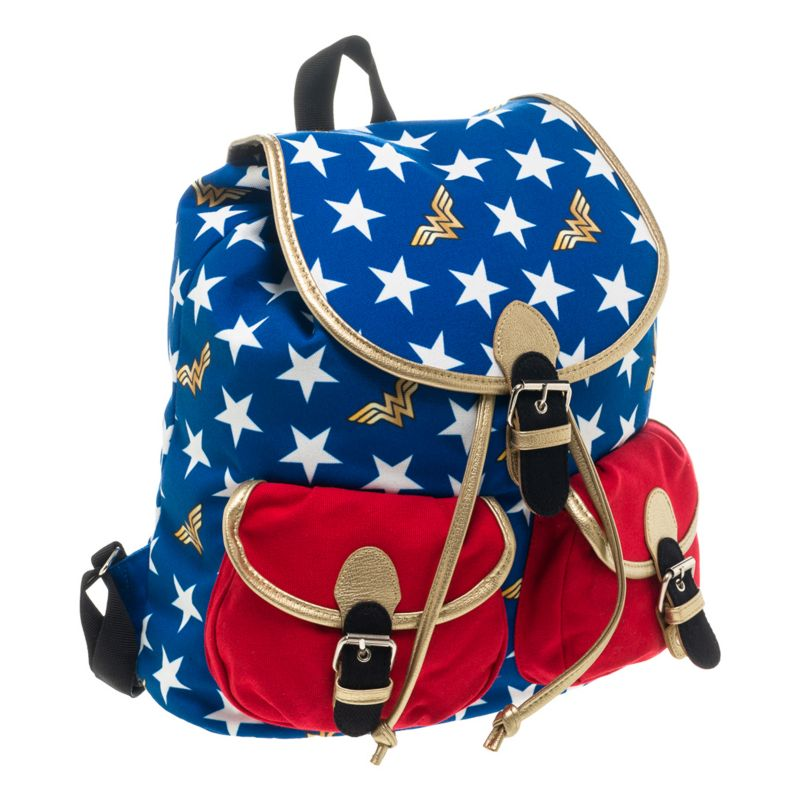 DC Comics Wonder Woman Backpack, Blue