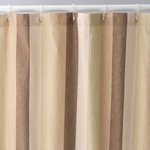 Home Classics® Churchill Striped Fabric Shower Curtain