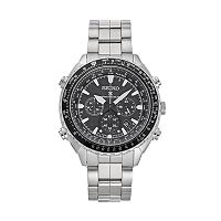 Seiko Men's Prospex Stainless Steel Solar Aviator Watch - SSG001