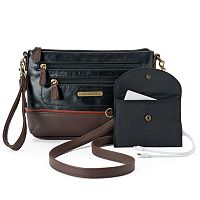 Stone & Co. Plugged In Smartphone Charging Crossbody Bag