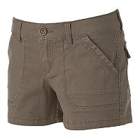 Juniors' Unionbay Stretch Twill Shortie Shorts