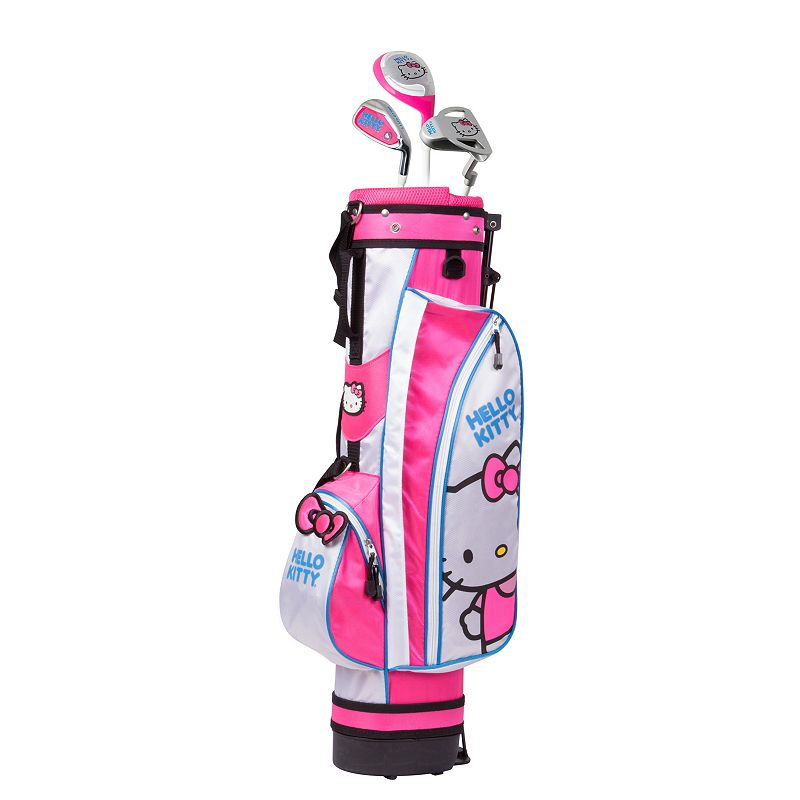 Kids Hello Kitty Go! 3-5 Years Junior Golf Club & Stand Bag Set, Multicolor