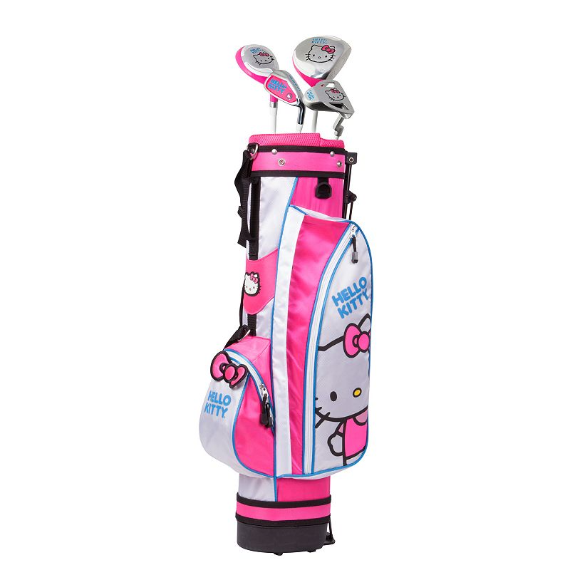 Kids Hello Kitty Go! 6-8 Years Junior Golf Club & Stand Bag Set, Multicolor