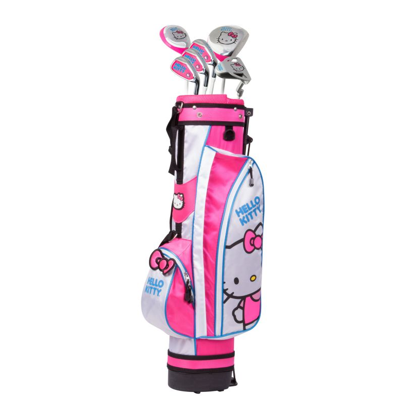 Kids Hello Kitty Go! 9-12 Years Junior Golf Club & Stand Bag Set, Multicolor