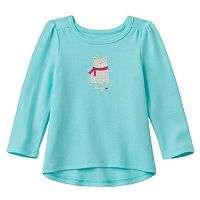 Baby Girl Jumping Beans® Glittery Graphic Thermal Tunic