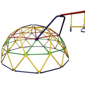 skywalker sports 10 foot geo dome climber with swing set