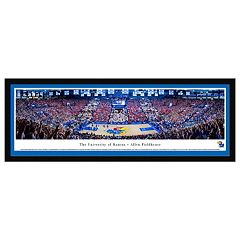Kansas Jayhawks Basketball Arena Framed Wall Art by