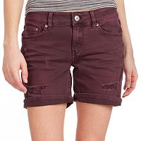 Juniors' Unionbay Margot Distressed Bermuda Shorts