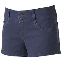 Juniors' Unionbay Wendall Double Button Shortie Shorts