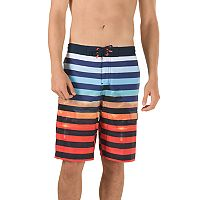 Men's Speedo Paradise Striped Brushed Microfiber 4-Way Stretch E-Board Shorts