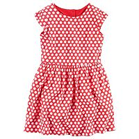 Girls 4-8 Carter's Polka-Dot Heart Cut Out Dress