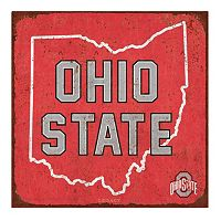 Legacy Athletic Ohio State Buckeyes State Tin Sign