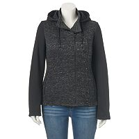 Juniors' Plus Size Sebby Marled Fleece Zip-Up Jacket