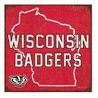 Legacy Athletic Wisconsin Badgers State Tin Sign