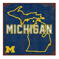 Legacy Athletic Michigan Wolverines State Tin Sign