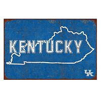Legacy Athletic Kentucky Wildcats State Tin Sign