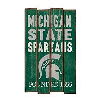 Legacy Athletic Michigan State Spartans Plank Sign