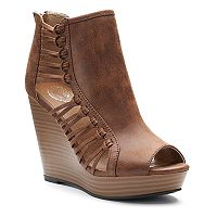 SO® Women's Strappy Wedge Sandals