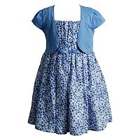 Girls 4-6x Youngland Floral Dress & Cardigan Set