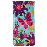 Jumping Beans Happy Flowers & Bugs Beach Towel