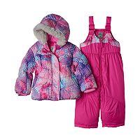 Baby Girl ZeroXposur Heavyweight Dot Jacket & Bib Snow Pants Set