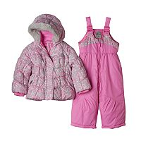 Baby Girl ZeroXposur Heavyweight Animal Print Jacket & Bib Snow Pants Set