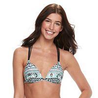 Juniors' Malibu Geometric Bikini Top