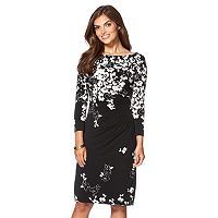Women's Chaps Floral Pleated Sheath Dress
